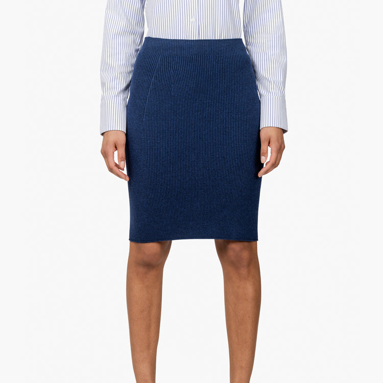 3D Print–Knit Skirt - Navy