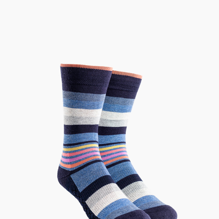 Atlas Dress Sock (AL6) - Sunset Ankle Stripe