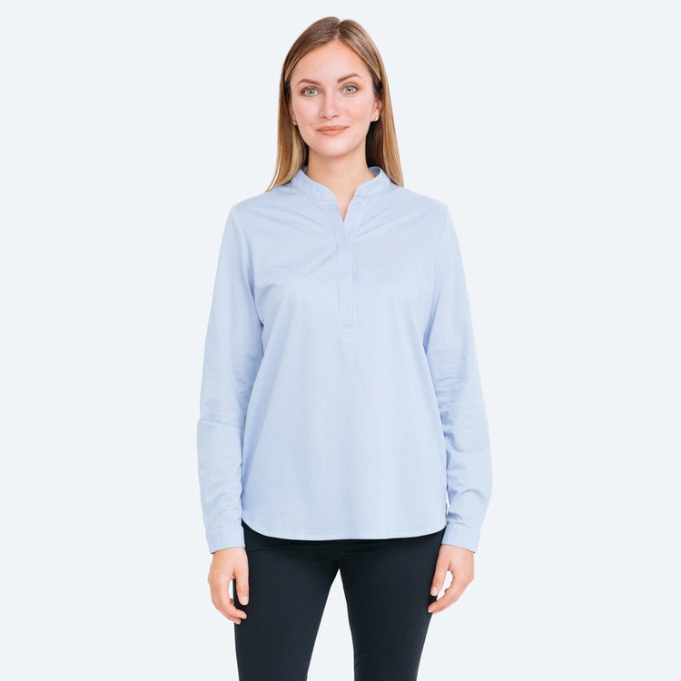 Women's Hybrid Popover - Blue Stripe
