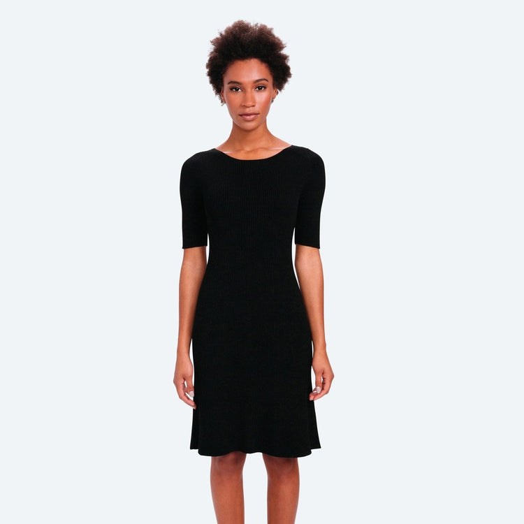 Women's Built to Order 3D Print–Knit Sweater Dress - Black