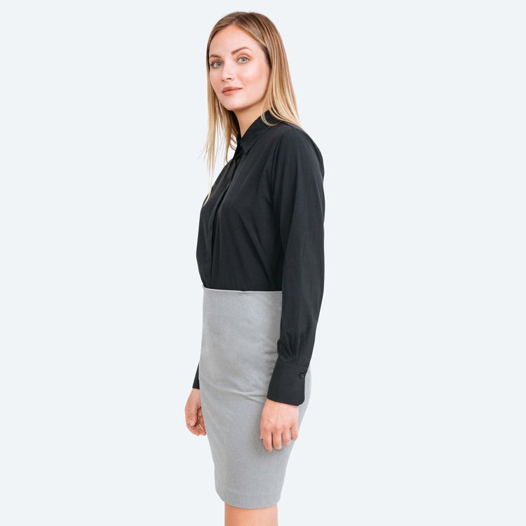 Kinetic Pencil Skirt - Grey Heather