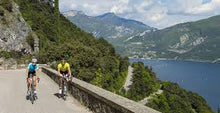 Load image into Gallery viewer, ROAD BIKE TRIPS. WE WILL RIDE DIFFERENT ROADS AND DIFFERENT ENVIRONMENTS, FROM THE FAMOUS LAKE GARDA HILLS TO THE ALPINE CLIMBS!
