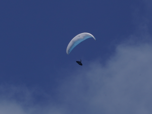 PARAGLIDING. A FLYING LONG DISTANCES EXPERIENCE OVER RIDGES, TOWNS AND VILLAGES.
