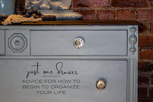Just One Drawer: <p>Advice for how to begin to organize your life.</p>