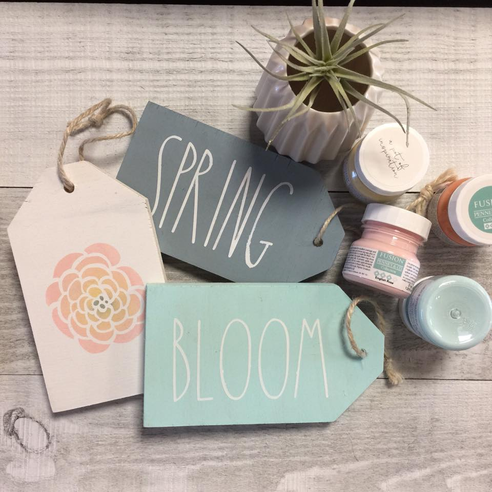 DIY Kit - Spring Wood Tags Set