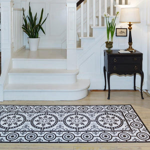 Hidraulik vinyl floor mats rugs and runners Lesseps design