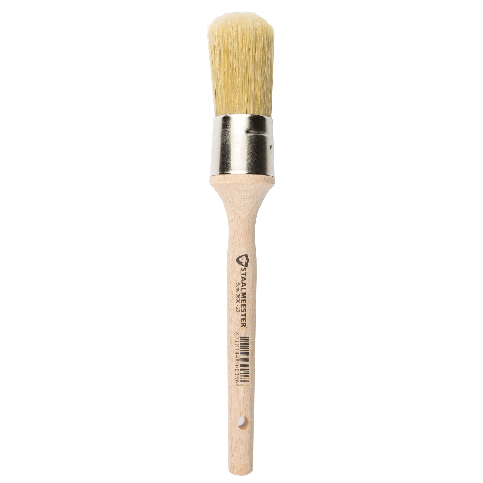 Staalmeester Brush - Natural Bristle Round #20