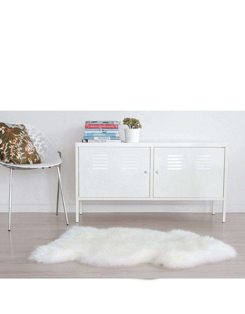 Single Long Wool Sheepskin Rug