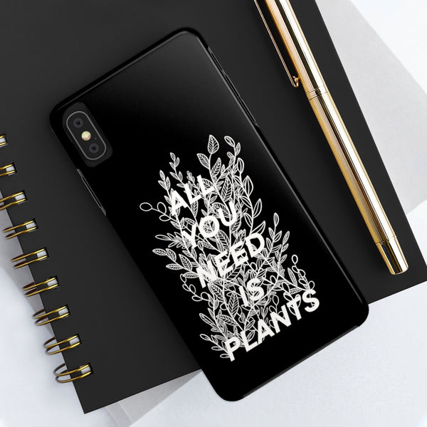 All You Need Is Plants Line - iPhone Tough Phone Case - Livinry