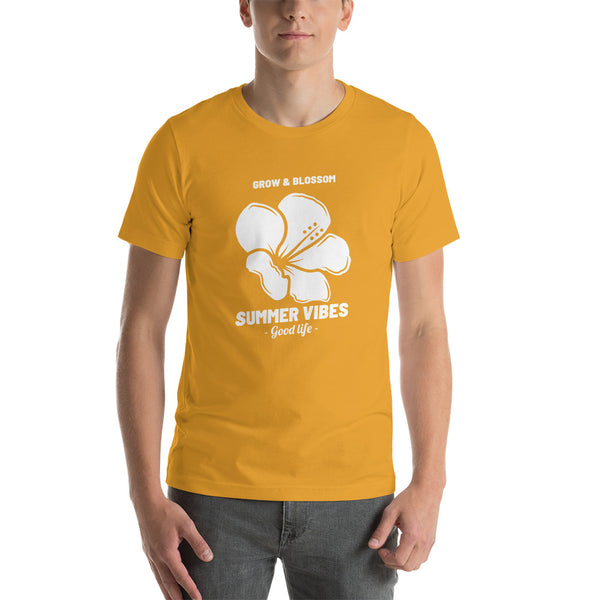 Grow & Blossom Flower Short-Sleeve Unisex T-Shirt - Livinry
