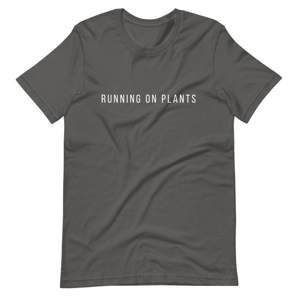 Running On Plants Text Short-Sleeve Unisex T-Shirt - Livinry