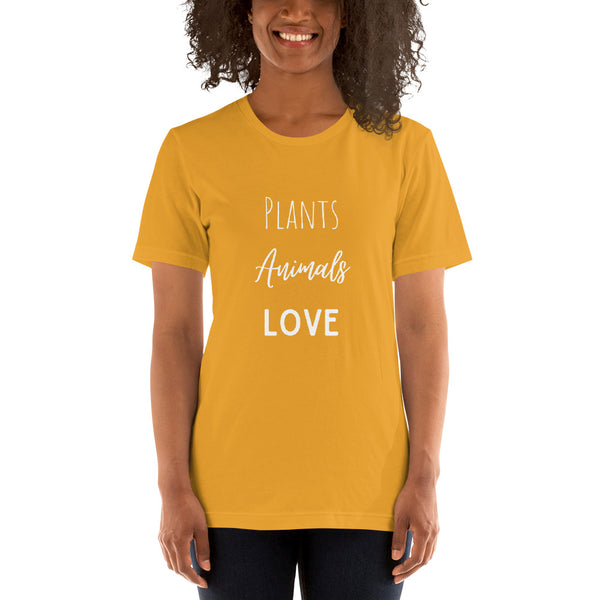 Plants Animals Love Short-Sleeve Unisex T-Shirt - Livinry