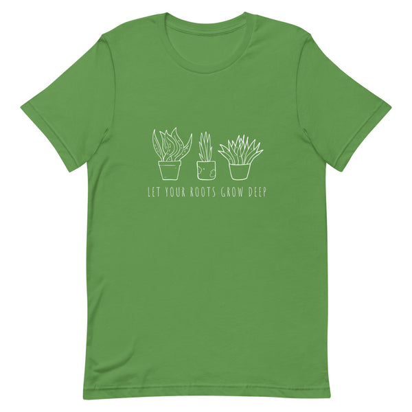 Let Your Roots Grow Deep Short-Sleeve Unisex T-Shirt - Livinry