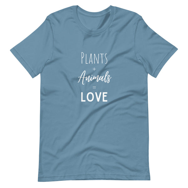 Plant Animals Love Equation Short-Sleeve Unisex T-Shirt - Livinry