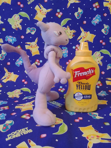 Old School Mewtwo UFO Plush