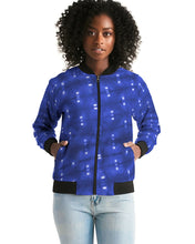 Load image into Gallery viewer, Shibori Indigo Spotted Bomber Jacket