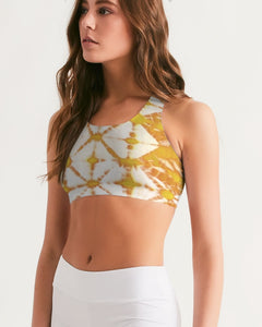 Honey Yellow Seamless Sports Bra