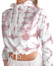 Load image into Gallery viewer, Pink Shibori Dyed Cropped Windbreaker
