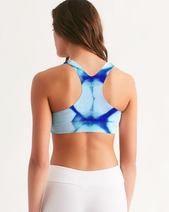 Blue Honeycomb Seamless Sports Bra