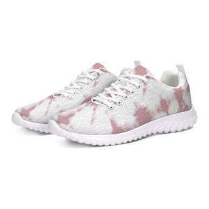Pink Shibori Dyed Athletic Sneakers