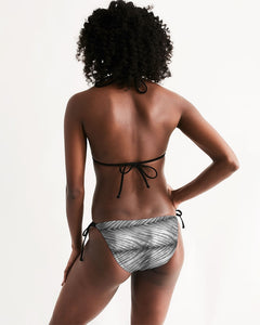 Grey Shibori Striped Bikini