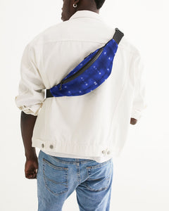 Shibori Indigo Spotted Crossbody Sling Bag