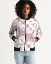 Load image into Gallery viewer, Pink Shibori Dyed Bomber Jacket