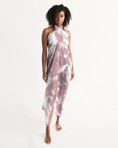 Pink Shibori Dyed Swim Cover Up