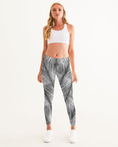 Grey Shibori Striped Leggings