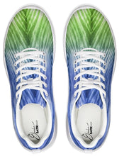 Load image into Gallery viewer, Blue Green Ombré Athletic Shoe