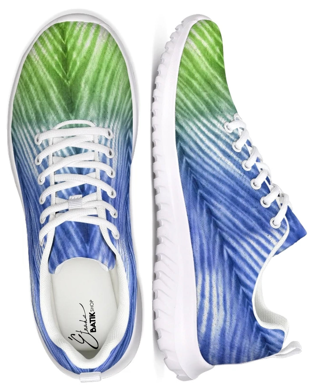 Blue Green Ombré Athletic Shoe