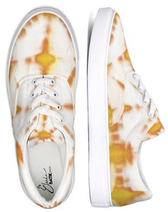 Honey Yellow Lace Up Canvas Shoe