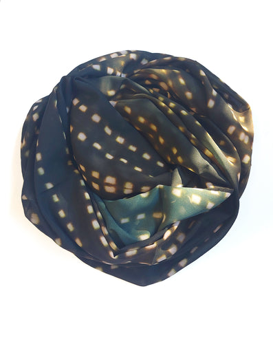 Spotted Olive Scarf
