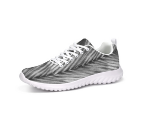 Grey Shibori Striped Athletic Sneakers