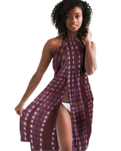 Load image into Gallery viewer, Shibori Burgundy Swim Cover Up