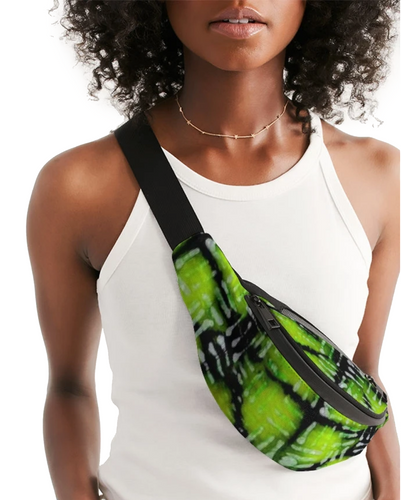 Neon Green and Black Fanny Pack