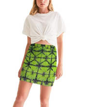 Load image into Gallery viewer, Neon Green and Black Mini Skirt