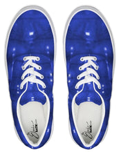 Load image into Gallery viewer, Shibori Indigo Lace Up Canvas Shoe