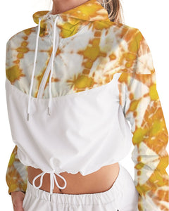 Honey Yellow Cropped Windbreaker