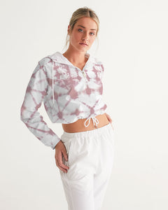 Pink Shibori Dyed Cropped Windbreaker