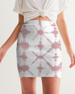 Pink Shibori Dyed Mini Skirt
