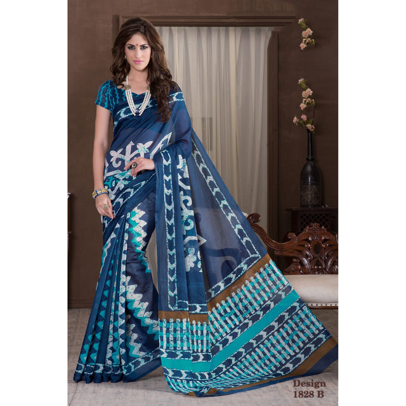 RKMI1828B, Casual Use Designer Art Silk Saree with Unstitched Blouse Piece