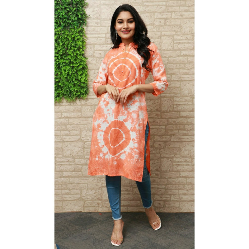 gh2001v01, Tie-dye Soft Cotton Everyday Use Kurti