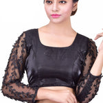 Velvet Silk Embroidery Blouse *CLEARANCE*