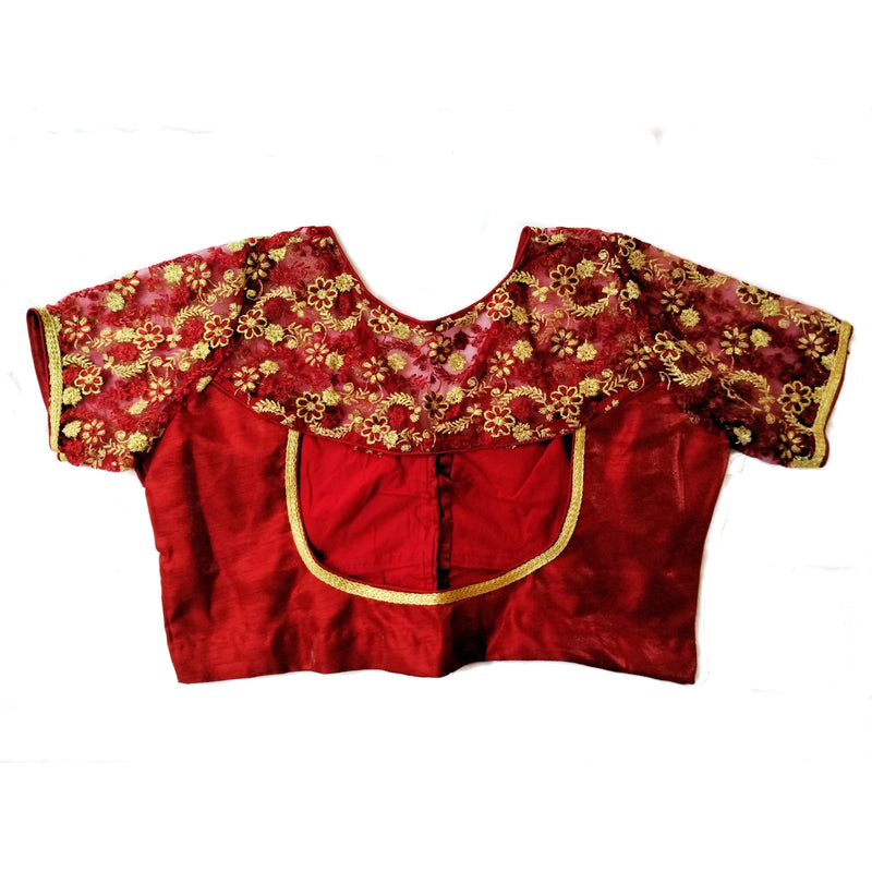 ln0207v01, Velvet Silk Thread Embroidered Blouse