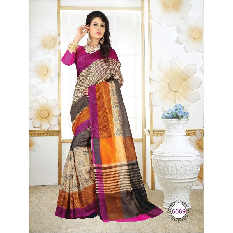lsm6669, Casual Use Designer Art Silk Saree with Unstitched Blouse Piece