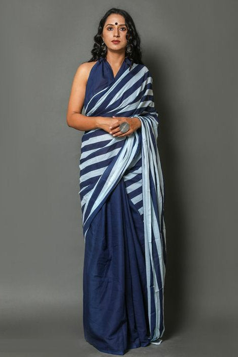 ms20200815_02, Bollywood Style Cotton Saree with Unstitched Blouse Piece