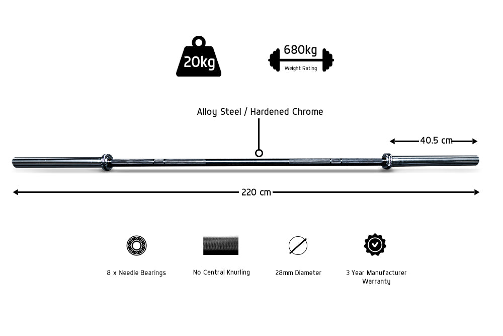 Xpeed X Series Barbell Specs