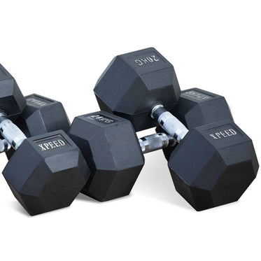 Xpeed Rubber Hex Dumbbell