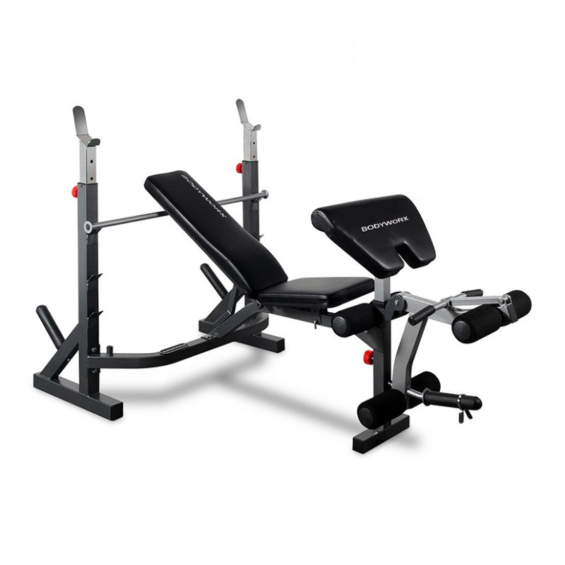 Bodyworx C353MWB Mid-Width Weight Bench With Leg Developer & Preacher Pad